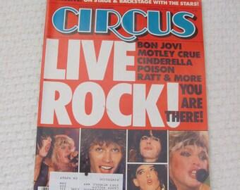 Vintage Circus Magazine September 30, 1987 - David Coverdale Whitesnake Centerfold