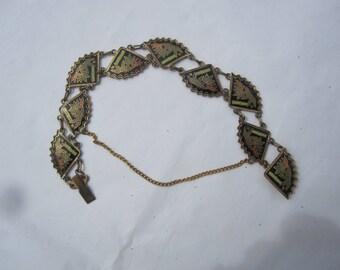 Enamel Bamboo Fan Bracelet