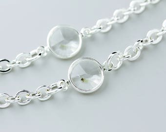 Eyeglass Chain, Eyewear, Glasses Chain, Silver Crystal Eyeglass Chain, Eyeglass holder necklace, Eyeglass Necklace, Eyeglass Holder, Lanyard