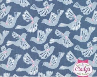 Moda Early Bird Flock Bird Denim cotton quilt fabric by 1/2 yard #27261 15