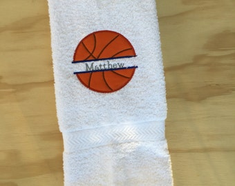 Basket ball Embroidered Hand Towel