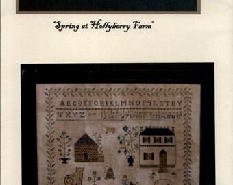 Stacy Nash Primitives: Spring At Hollyberry Farm - Cross Stitch Pattern