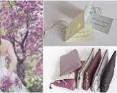 Gray Lavender Purple Set of 7 Clutches Personalized Bridesmaids Gifts On A Budget, DIY Wedding Proposal Makeup Bags