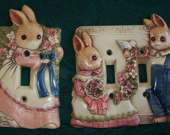rabbit switch plate cover, single switch plate cover, double switch plate cover, made in Japan