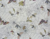 The Ghastlies, A Ghastlie Web, Spider Web Fabric, Alexander Henry, Insects in Webs,  Ghastlie Web, Natural Background, By the Yard