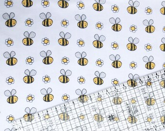 Fabric By The Yard, Bumble Bee, Snuggle Flannel Fabric BTY, Bee Fabric, Bee, BTY, Flannel Fabric,