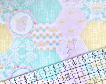 Bunny Nursery Cotton Fabric By The Yard