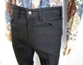 "70s 32"" x 32"" Levis Polyester Jeans Mens Flares PANTS Black"