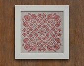 PDF Spring Blossoms cross stitch patterns by Modern Folk at thecottageneedle.com monochromatic Spring
