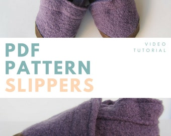 Slippers - Pdf patterne & Video tutorial