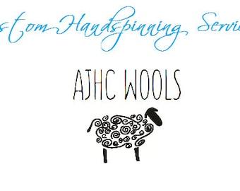 Custom Spinning Fees for Handspun Yarn - Purchase with your favorite fiber to receive a custom made handspun yarn