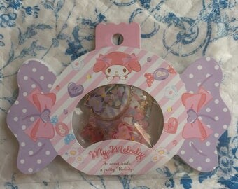 NEW 20 drop stciker flakes pack Sanrio My Melody
