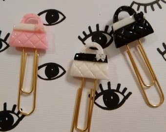 Bookmark, Planner Clip, Paper Clip Set of 3 purses