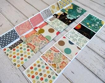 Mini Note Cards, Mini Note Card Set, 3x3 Note Cards, Mini Envelopes, Set of 6 Mini Note Cards with Envelopes, Mini Cards, Small Card Set