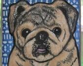 Stained Glass Dog Suncatcher Custom Pug JRN231