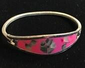Alpaca Silver Hinged Abalone Bracelet