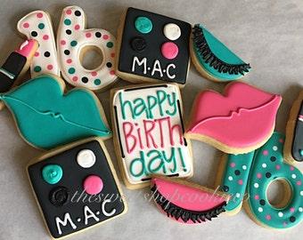 Makeup Lover Sweet 16 cookies 2 dozen