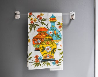 Mid-Century New Old Stock Linen Tea Towel