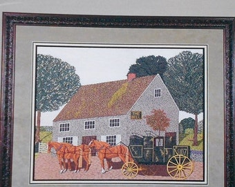 50%OFF Designs By Lynn Cox THE COACH By Cross My Heart, Inc. - Counted Cross Stitch Pattern Chart