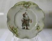 Vintage Santa Lusterware Plate
