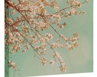Sakura Pink Cherry Blossoms Wall Canvas. Floral Nature Photography. Spring Landscape Art. Whimsical Shabby Chic Home Decor. Mothers Day Gift