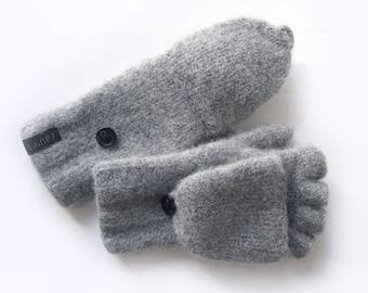 convertible mittens, felted wool mittens