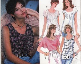 "Women's Sewing Pattern Simplicity 8986 Summer Sleeveless Tops Size XS-M Bust 30.5-38"""