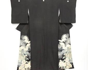 Queen of Swords Tomesode Silk Kimono