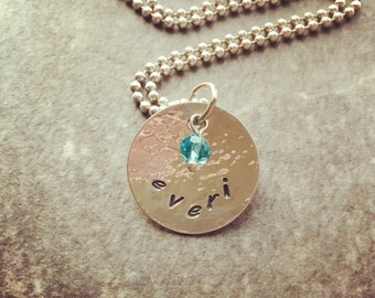 Sterling Silver Mommy Necklace