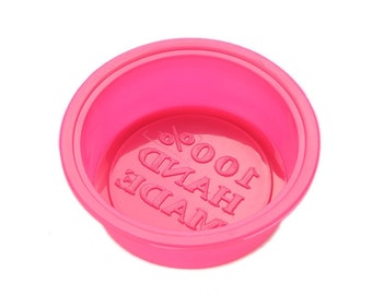 Silicone Soap Mold: 100% Handmade Mold, Circle Soap Mold, Handmade Imprint, Imprinted Soap, Flexible Mold, Circle Mold, Soap Mold,  MOL007