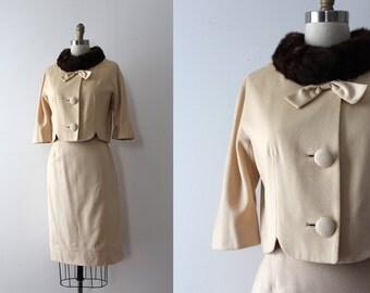 vintage 1960s Lilli Ann skirt suit // 60s creamy wool designer suit