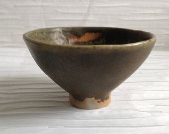 Vintage Modern Art Pottery Bowl.  Signed Studio Ceramics Pot.   Vintage 1960.   Modernist Studio Pottery.