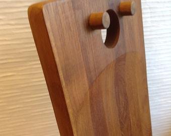 Nissen Denmark Cutting Serving Board.  Teak wood, Vintage 1960. Mid century modern, Danish Modern, Eames era.