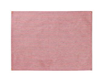 Red Broad Stripe Placemat Set