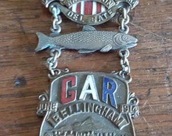 GAR Bellingham, WA Delegate Badge - 1914
