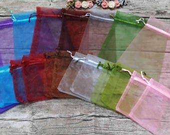 20  4 x 5 Organza Bags,Birthday Favor Bags, Baby shower bags, Candy Drawstring Bags, Christmas Gift Bags,Party Bags
