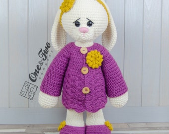 "Blossom the Big Bunny ""Big Hugs Series"" Amigurumi - PDF Crochet Pattern - Instant Download - Amigurumi Cuddy Stuff"