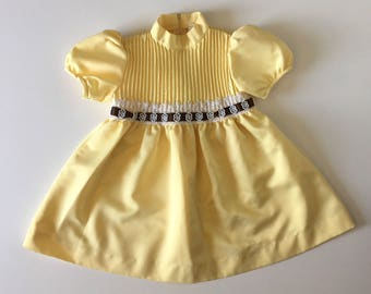 1970's Yellow Satin Party Dress (4t)