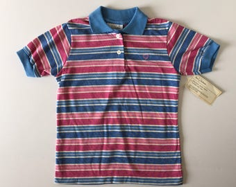 NWT 1980's Fox Hollow Striped Polo (10/12)