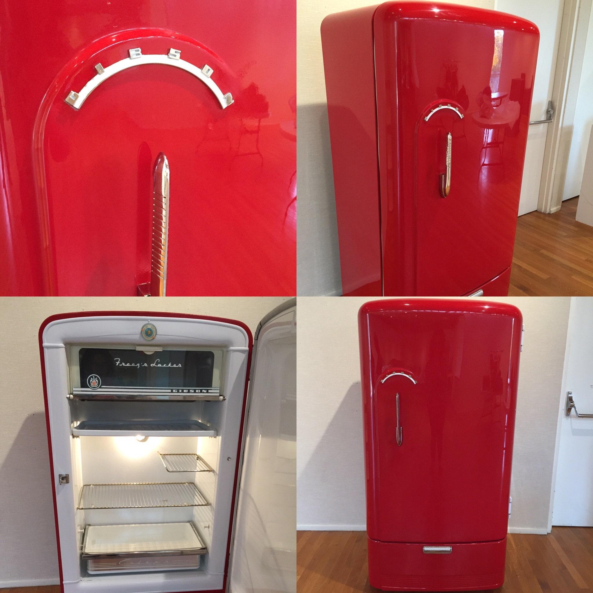 Sleek Appliance Garage: Custom Refurbished Retro Refrigerator Made To Order Man