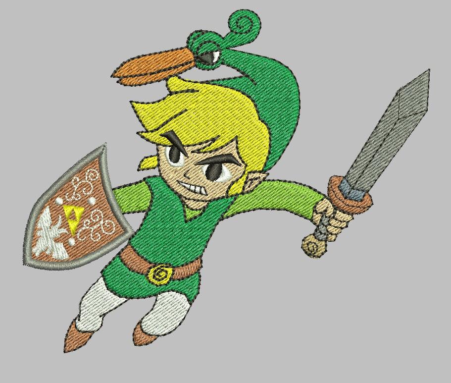 Zelda Machine Embroidery Design Minish Cap Link 4x4