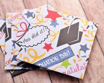 SALE- Graduation Mini Cards // Blank Cards // Enclosure Cards // Congratulations // Graduation Card