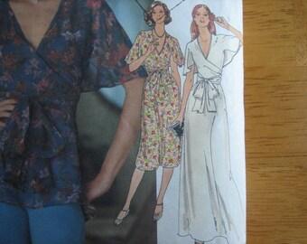 Butterick Pattern 5340 Misses' Dress & Blouse     1970's