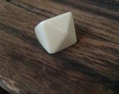 Vintage cream lucite ring