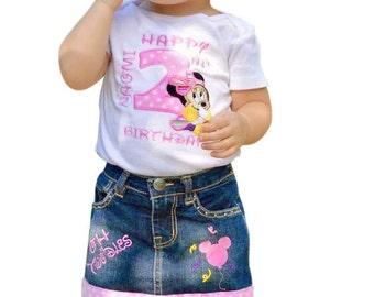 Minnie 2nd Birthday Shirt,Minnie Mouse Shirt, Minnie Mouse 2nd Birthday Shirt or Onsie Set