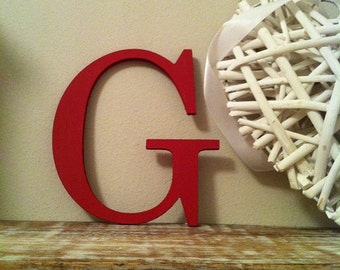 Painted Wooden Letter - Large G, Times Roman Font, 40cm high, 16 inch, any colour, wall letter, wall decor, 18mm