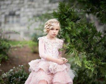 Tutu dress, couture lace high low tutu dress