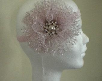 Pink Twinkle Tulle Pouff Headband