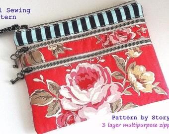 Quick and easy PDF handbag pattern | bag pattern | wallet sewing pattern | wallet pattern | pouch pattern  | clutch pattern |  organizer