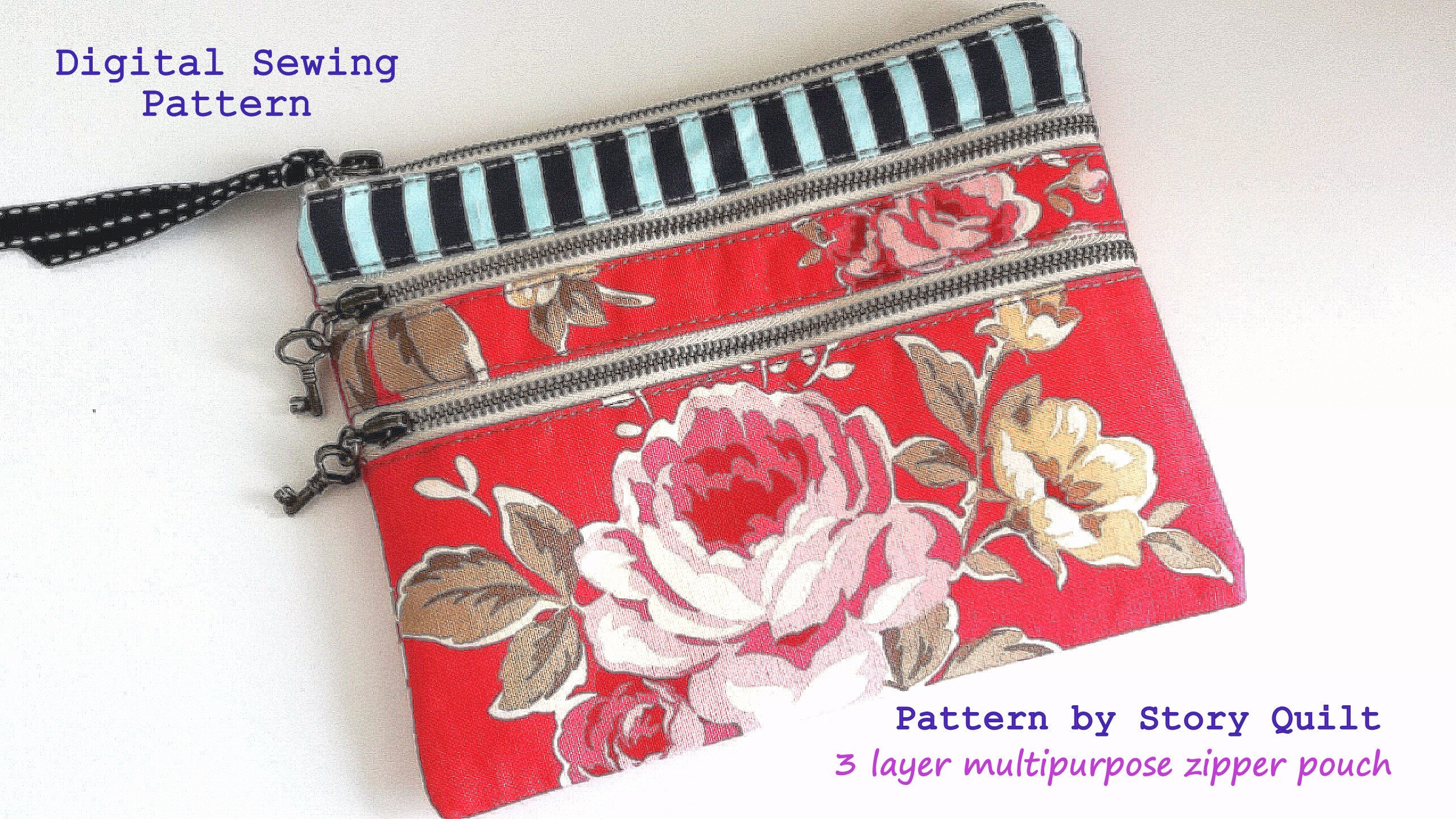Quick and easy pdf handbag pattern bag pattern wallet sewing this is a digital file jeuxipadfo Choice Image